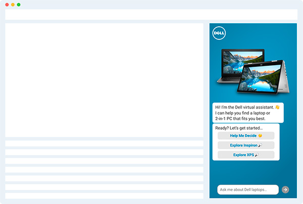 Dell desktop conversational ad